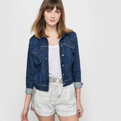 manteau jean femme