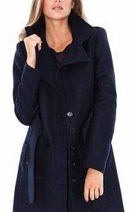 manteau laine bleu marine femme