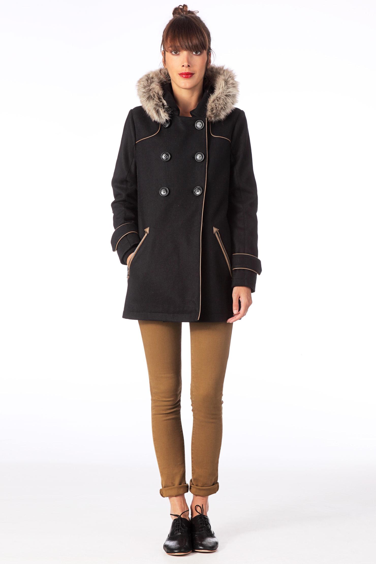 manteau laine femme pas cher. Black Bedroom Furniture Sets. Home Design Ideas