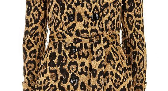 manteau leopard femme