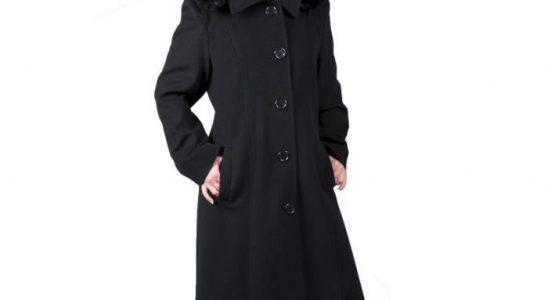 manteau long avec capuche femme