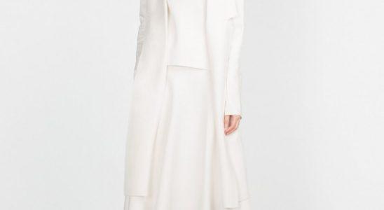 manteau long blanc femme