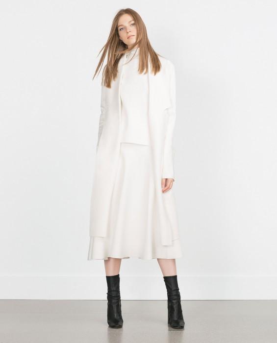 grossiste 36c5d 43115 Manteau long blanc femme