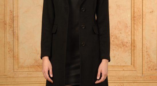 manteau long cintré femme