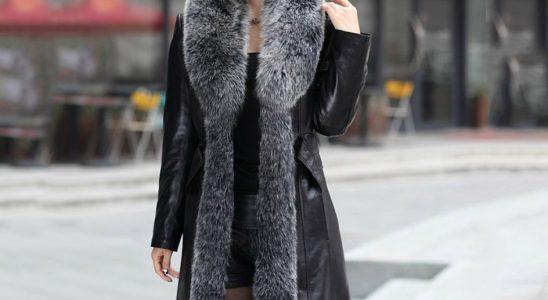 manteau long fourrure femme