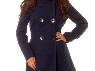 manteau marine femme