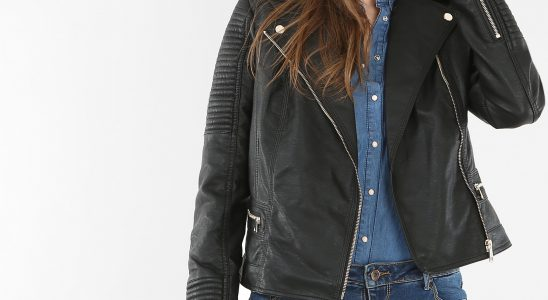 manteau motard femme