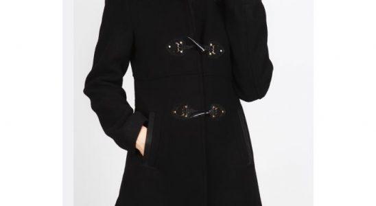 manteau noir a capuche femme