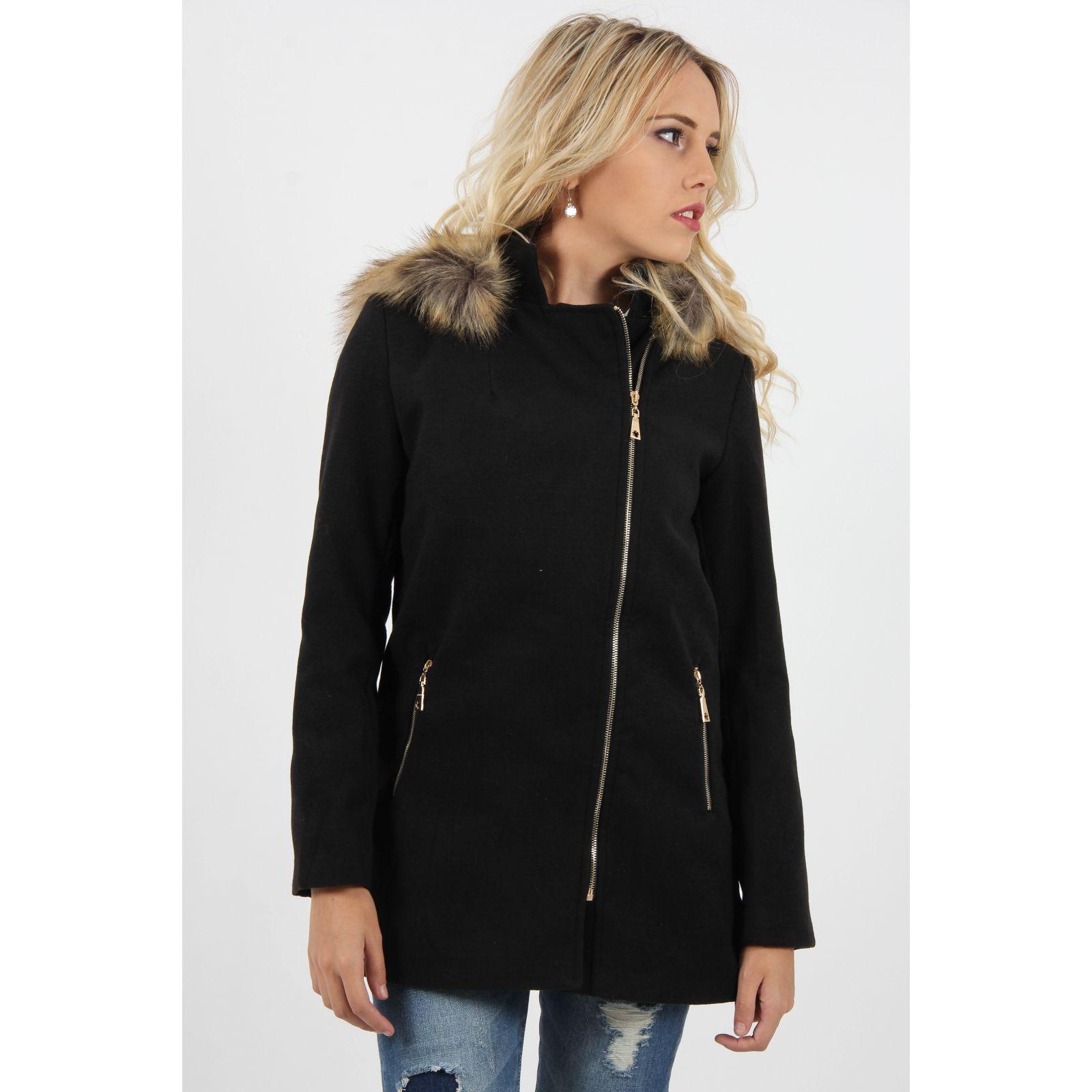 manteau noir femme capuche. Black Bedroom Furniture Sets. Home Design Ideas