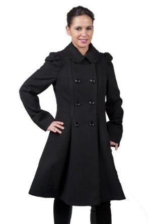manteau noir femme cintré