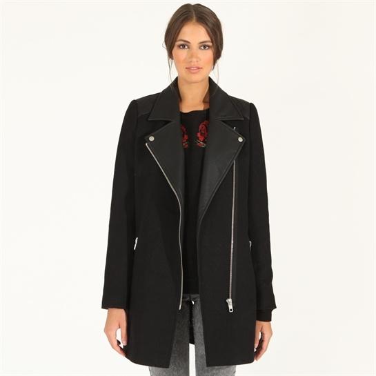 Manteau noir femme hiver