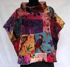 manteau patchwork femme
