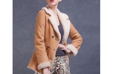 manteau peau de mouton femme