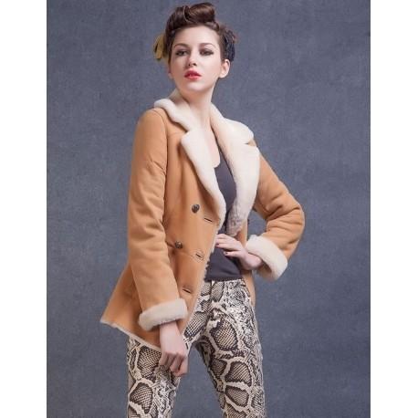 Veste courte mouton femme