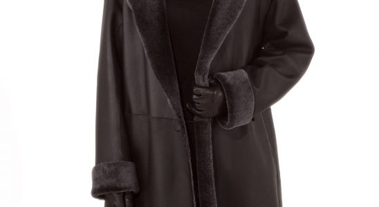 manteau peau femme