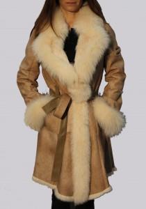 manteau peau lainée femme mac douglas