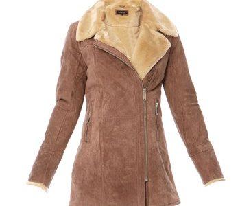 manteau peau lainée femme oakwood