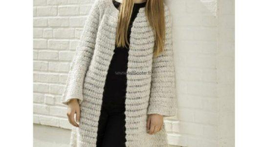 manteau tricot femme