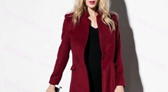 manteaux bordeaux femme
