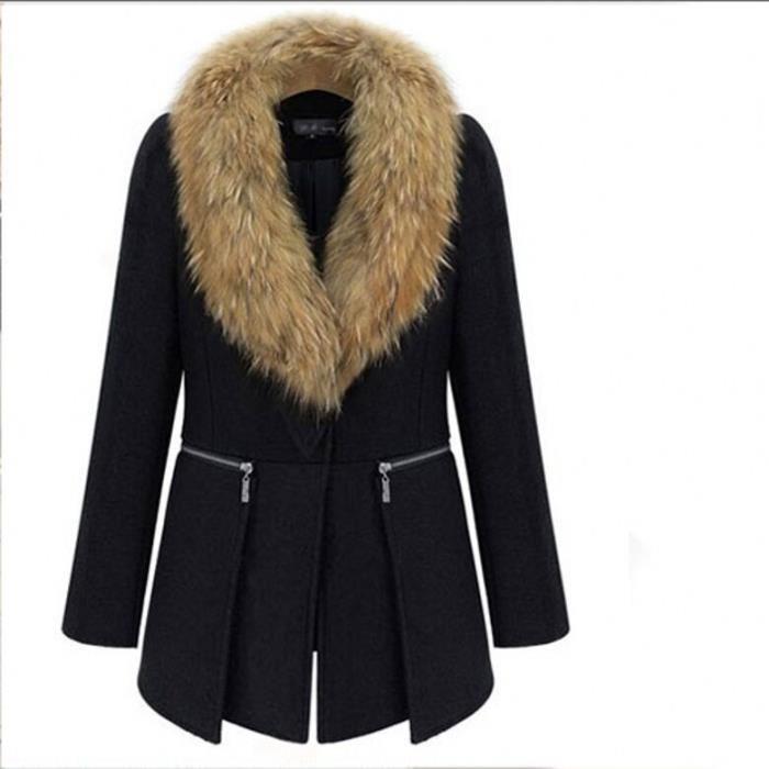manteaux col fourrure femme