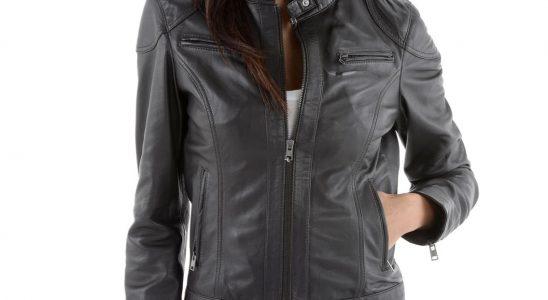 manteaux cuir femme
