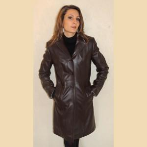 manteaux en cuir femme