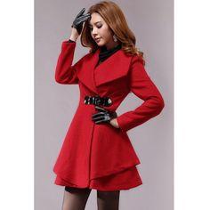 manteaux rouge femme