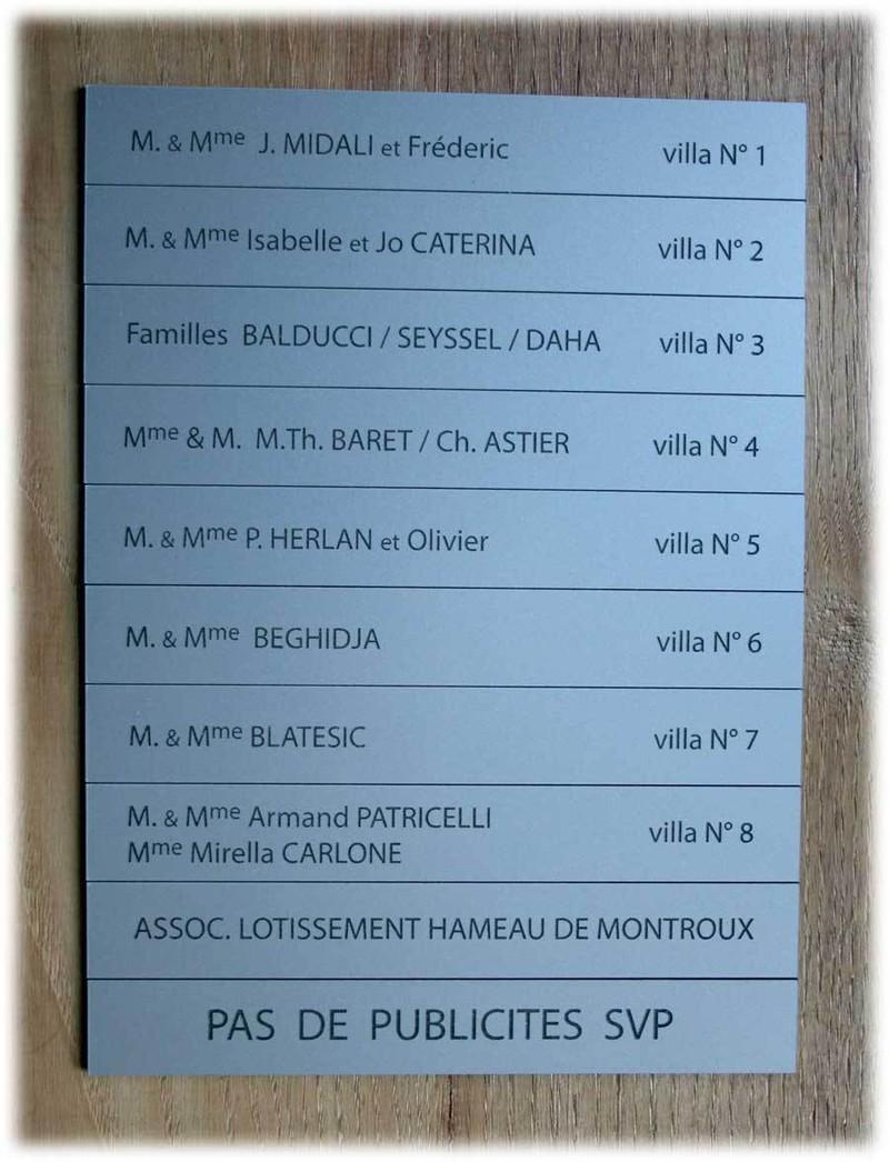 Plaque boîte aux lettres :la collection de plaque boîte aux lettres